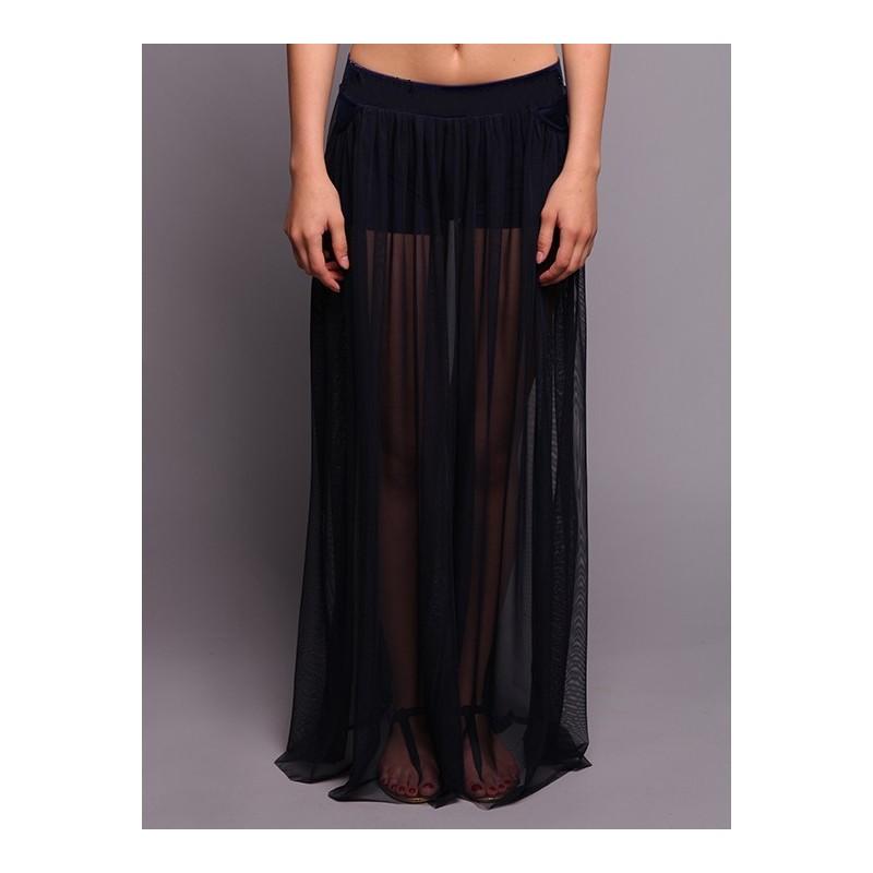 Сшить прозрачную юбку в пол 39