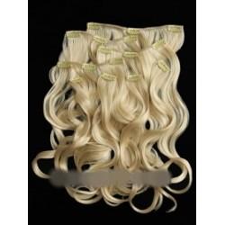 Искусственные накладные пряди, трессы, волосы на заколках волнистые
