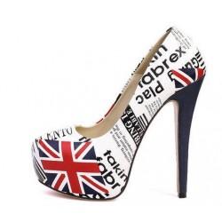 Туфли с британским флагом полиграфический дизайн Super Star