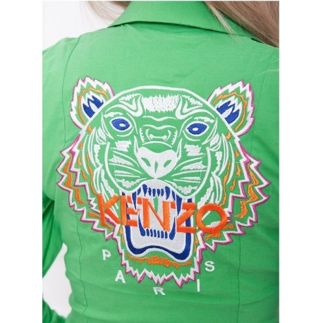 Рубашка - боди вышивка KENZO зеленая