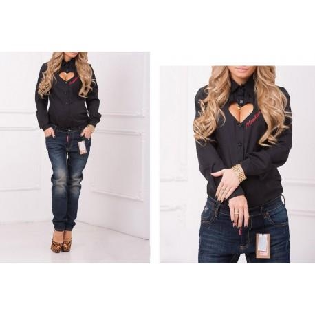Рубашка Moschino с вырезом в форме сердца