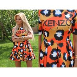 Платье Kenzo лео оранж