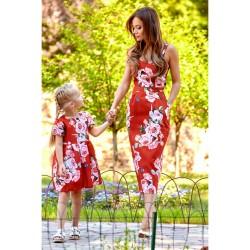 Платье взрослое , с розами 11064