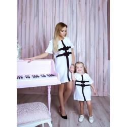 Платье детское Бантики familylook 10739