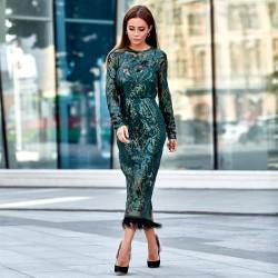 Великолепное платье с узором 11141