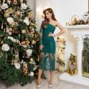 Платье вышивка с пайеткой 11156