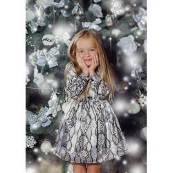 Платье детское Family Look с принтом 11205