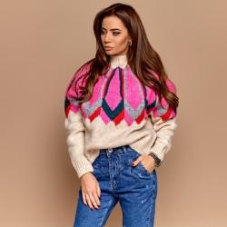 Теплый свитер с узором 91487