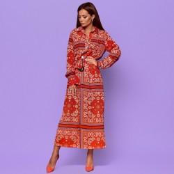 Платье с поясом на запах 372759
