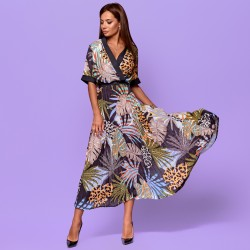 Платье с плессированой юбкой 31619