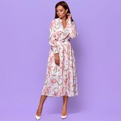 Платье с нежными цветами 94002