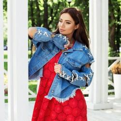 Модная джинсовая куртка 7211-0