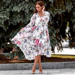 Легкое платье в ярких цветах 11291