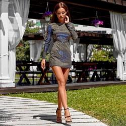 Стильное платье-комбинезон 11354