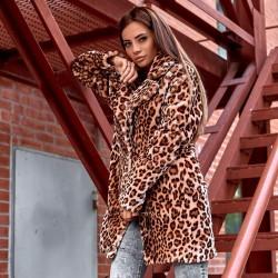 Полушубок леопардовый 89063