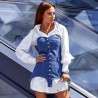 Платье-рубашка с корсетом 11368