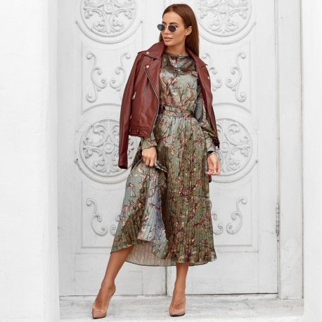 Платье с цветным принтом 5236-1