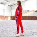 Спортивный костюм с ярким лампасом 4065