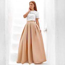 Пышная юбка макси 10434