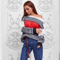 Объемный свитер с узором 2337