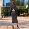 Платье миди с открытой спиной 11403