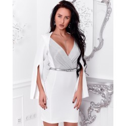 Платье на запах,рукава с разрезом 9224