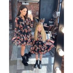 Детское платье рубашечного кроя в цветах 11568