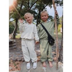 Детский объёмный спортивный костюм из хлопка