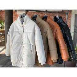 Утепленная куртка из экокожи 11656