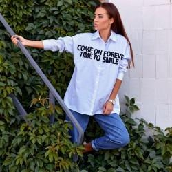 Рубашка в полоску с текстом 26550
