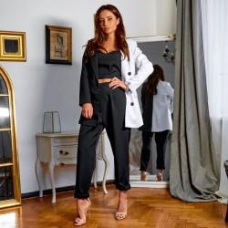 Черно-белый костюм-тройка 11650