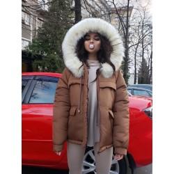 Куртка парка с мехом на капюшоне
