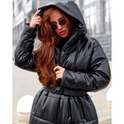 Пальто в стиле Zara из экокожи 8299