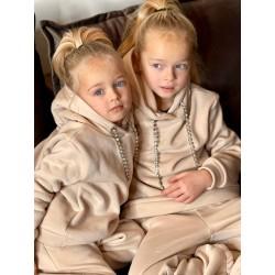 Детский теплый костюм со стразами 11725 Family Look