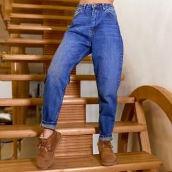 Трендовые джинсы slouchy синего оттенка 1793