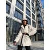 Утеплённый пиджак в стиле Prada из экокожи