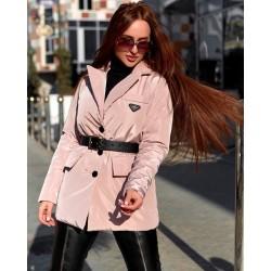 Куртка-пиджак с атласным блеском в стиле prado 8247
